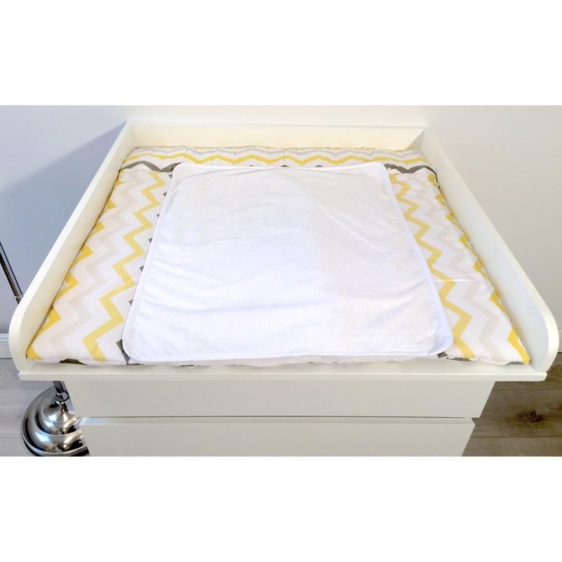 Пеленальный матрасик для новорожденного Желтый Зигзаг