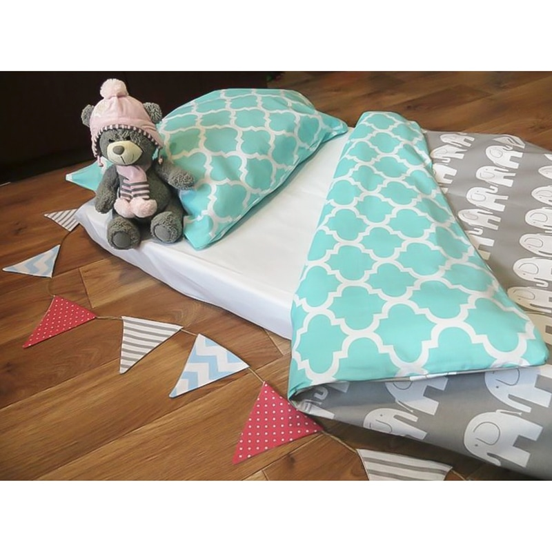 Комплект постільної білизни для новонародженого Слоники