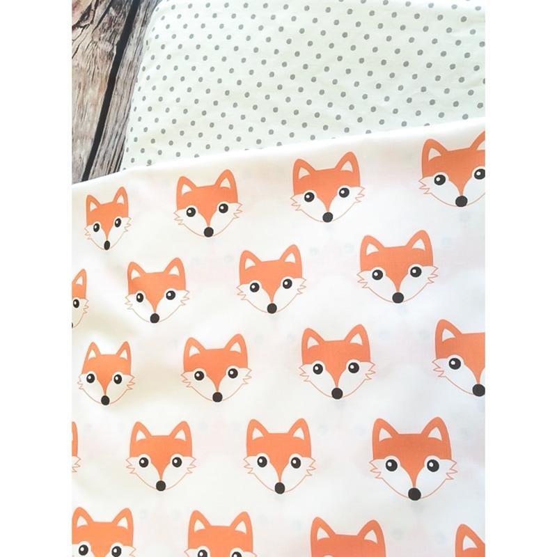 Комплект постельного белья для новорожденных Лисенок