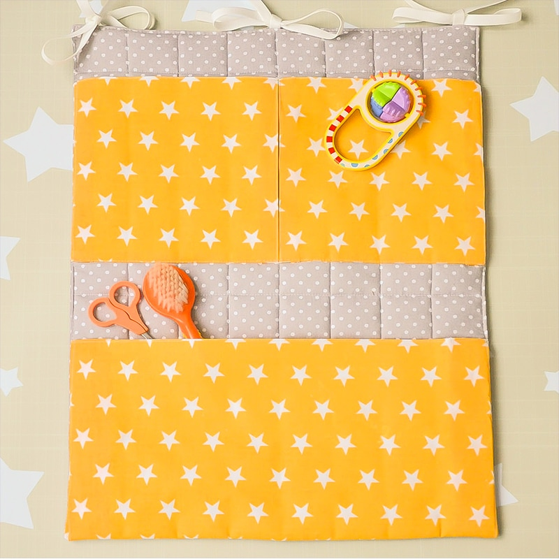 Карман на кроватку новорожденному Желтая Звездочка