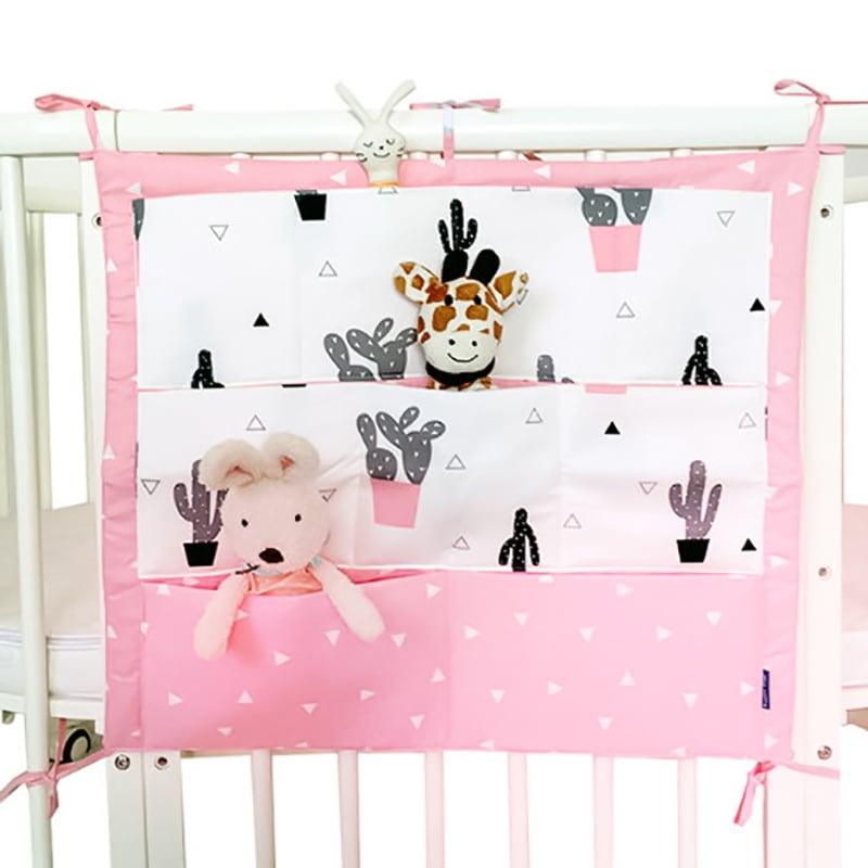 Авторский органайзер на кроватку новорожденному Мишутка Розовые Щечки
