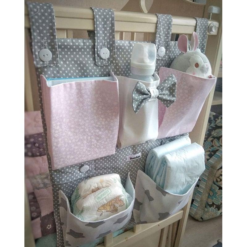 Органайзер на кроватку новорожденному Зайка
