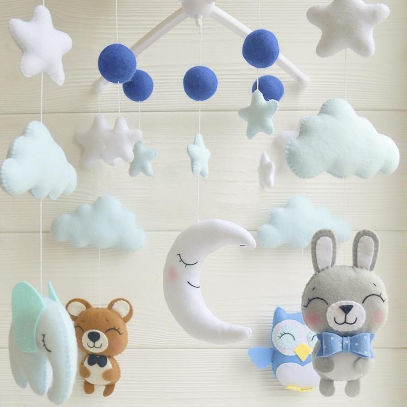 Мобиль на кроватку мальчику Голубые Сны