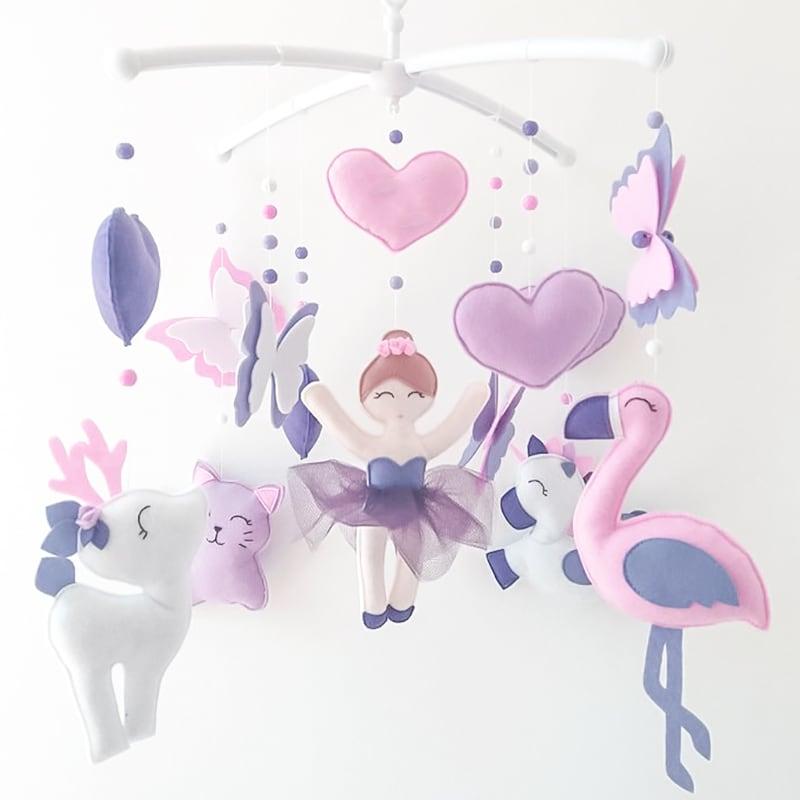 Мобіль на ліжечко дівчинці Маленька Чарівниця