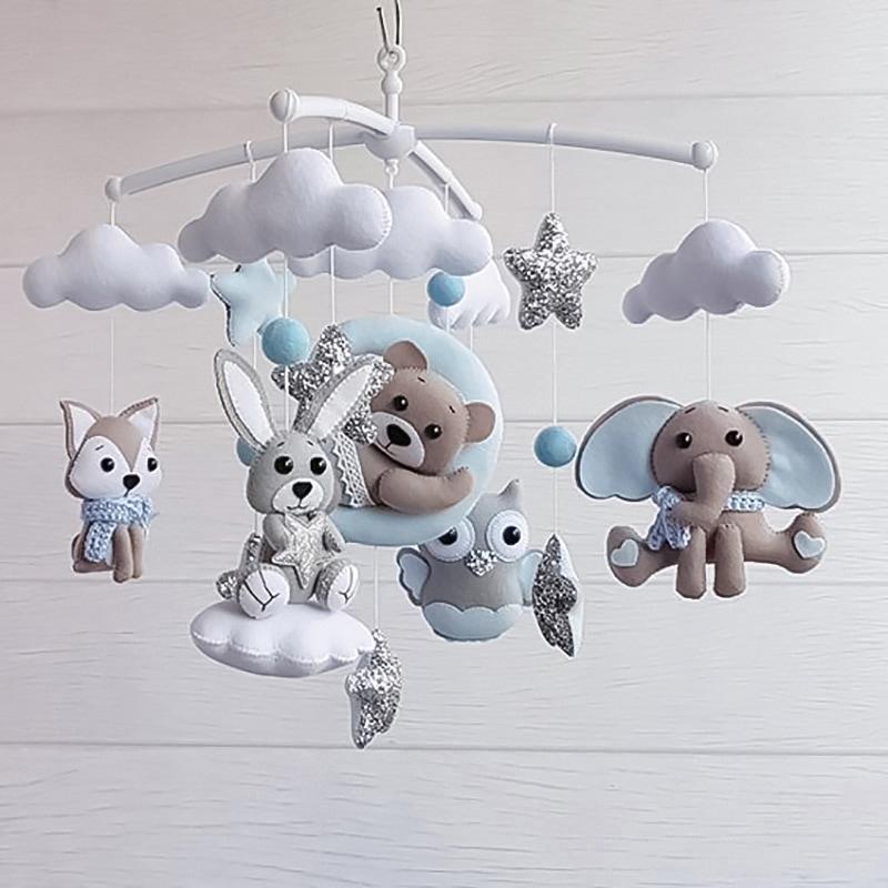 Мобіль дитячий на ліжечко хлопчикові Перлова Казка