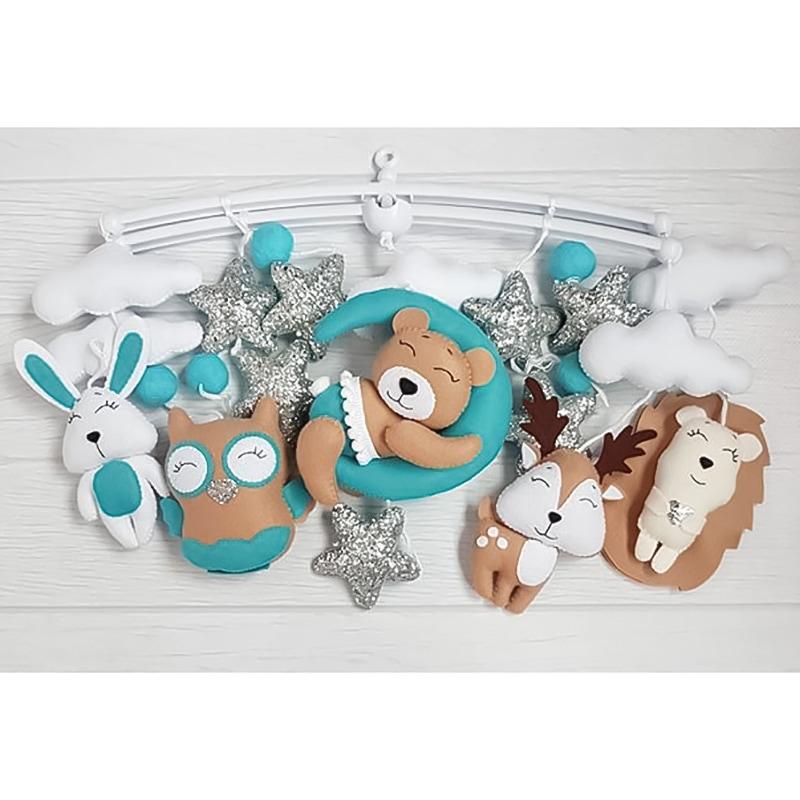Мобіль підвісний для дитячого ліжечка Сплять Втомлені Іграшки