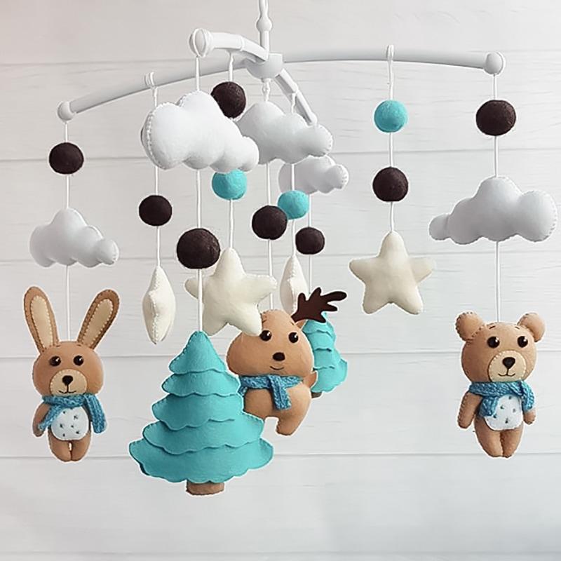 Мобиль карусель для новорожденных Зимняя Сказка