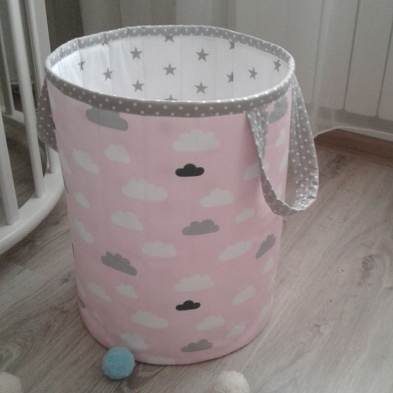 Корзина для игрушек девочке Розовое Облачко