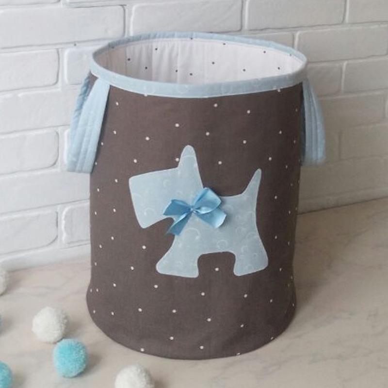 Кошик для іграшок хлопчику Маленький Тер'єр