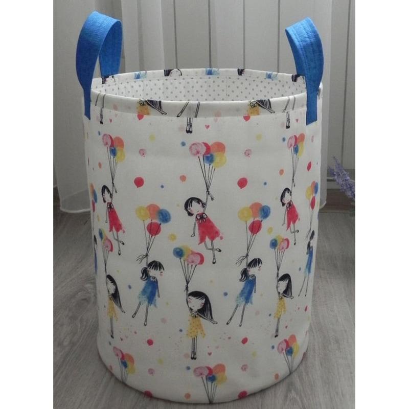 Корзина для игрушек Девочка с Воздушным Шаром