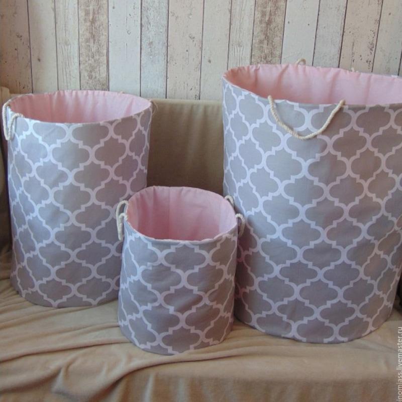 Набор корзин для игрушек Жемчужный Барокко