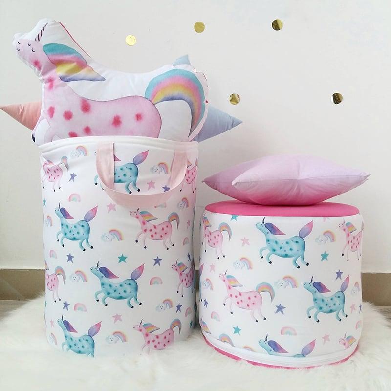 Кошик для іграшок дівчинці Unicorn