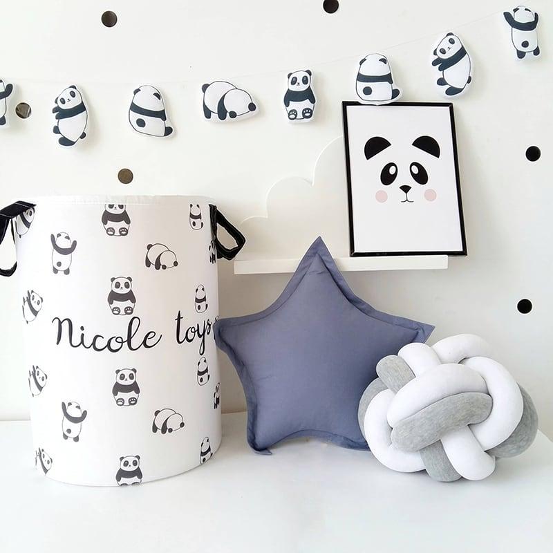 Корзина для игрушек handmade Panda именная