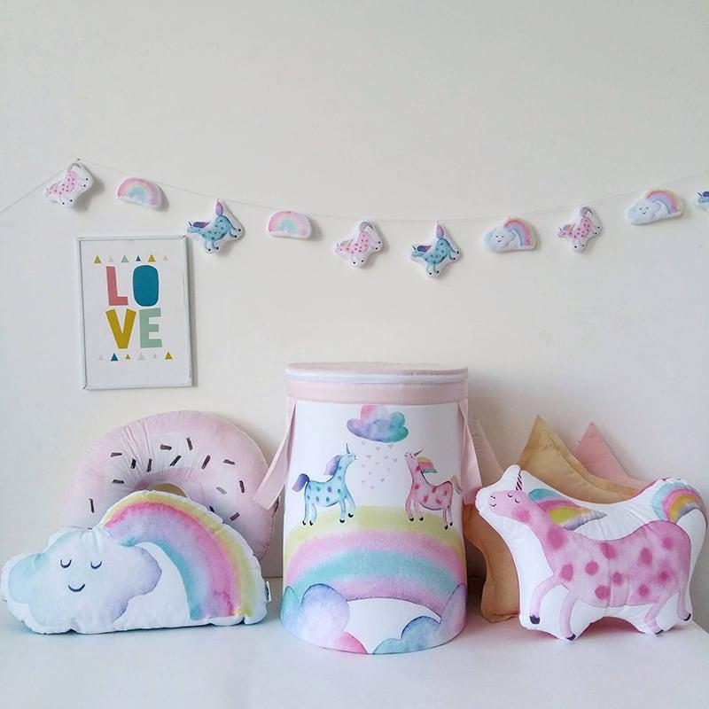 Корзина для игрушек девочке Unicorns Рanel