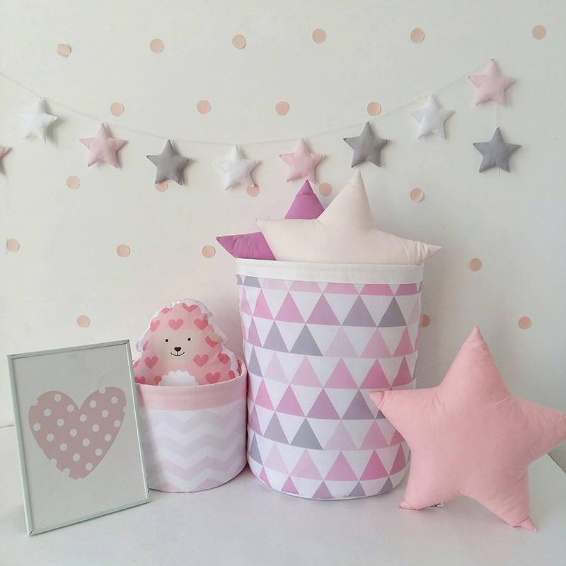 Корзина для игрушек девочке Pink Pastille