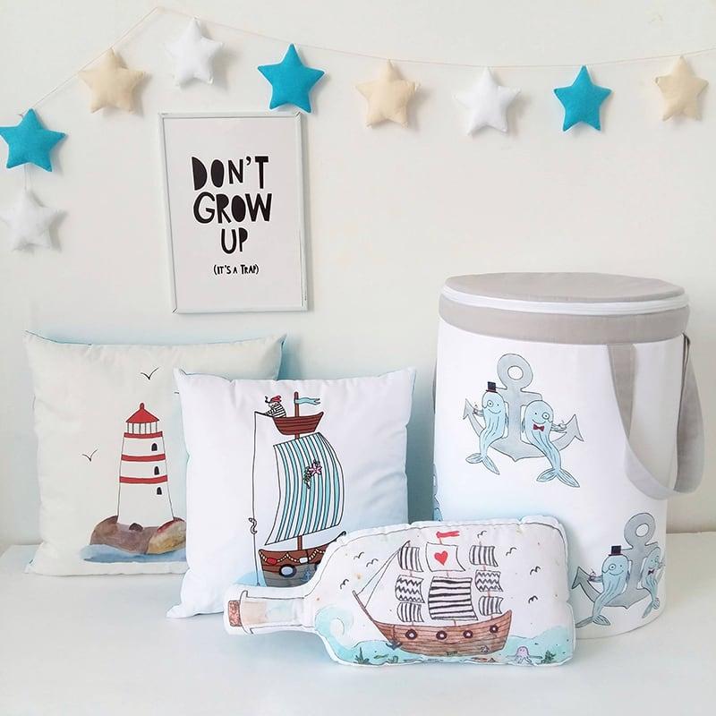 Корзина для игрушек мальчику Merry Whale