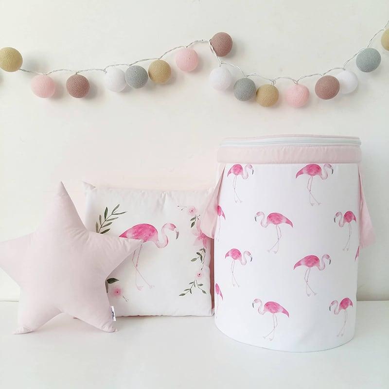 Корзина для игрушек девочке Pink Flamingo