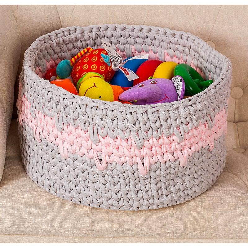 Корзина для игрушек девочке Pink Chevron