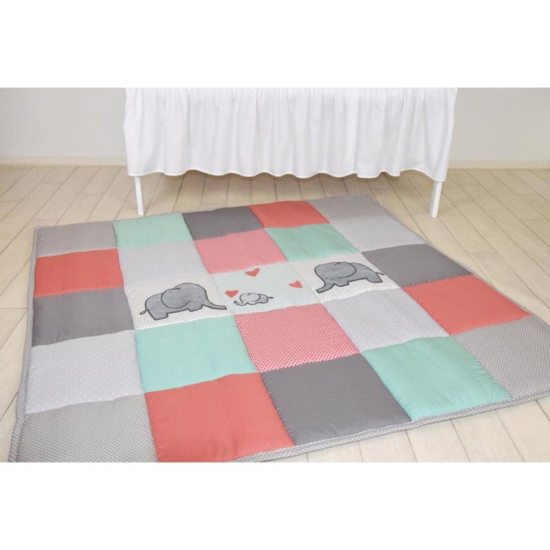 Игровой коврик для детей Слоники