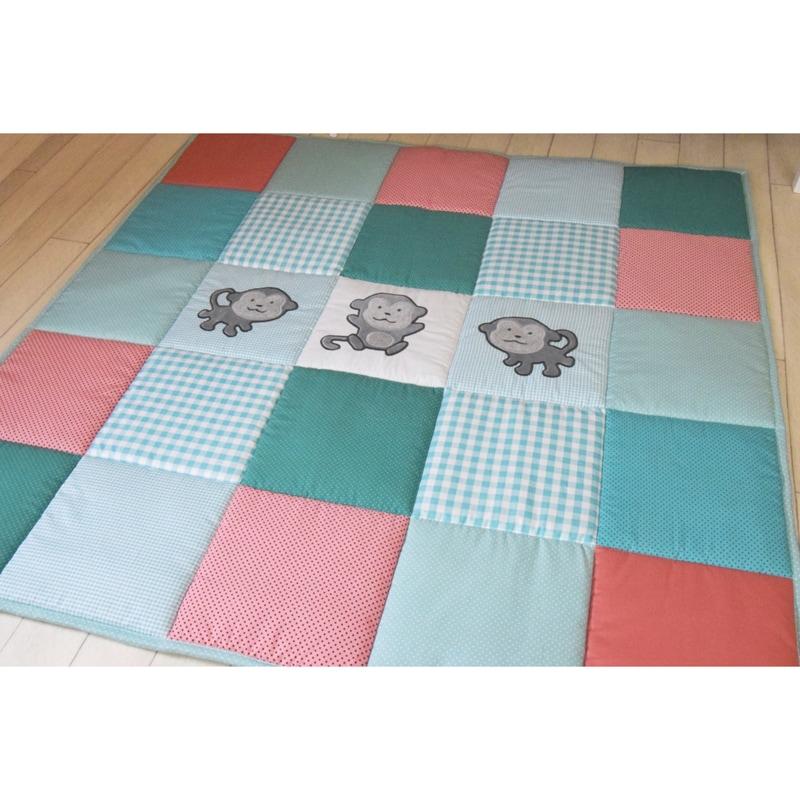 Игровой коврик для детей Три Обезьянки