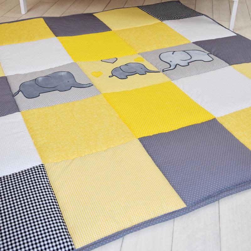Ігровий килимок для дітей Жовті Слоники