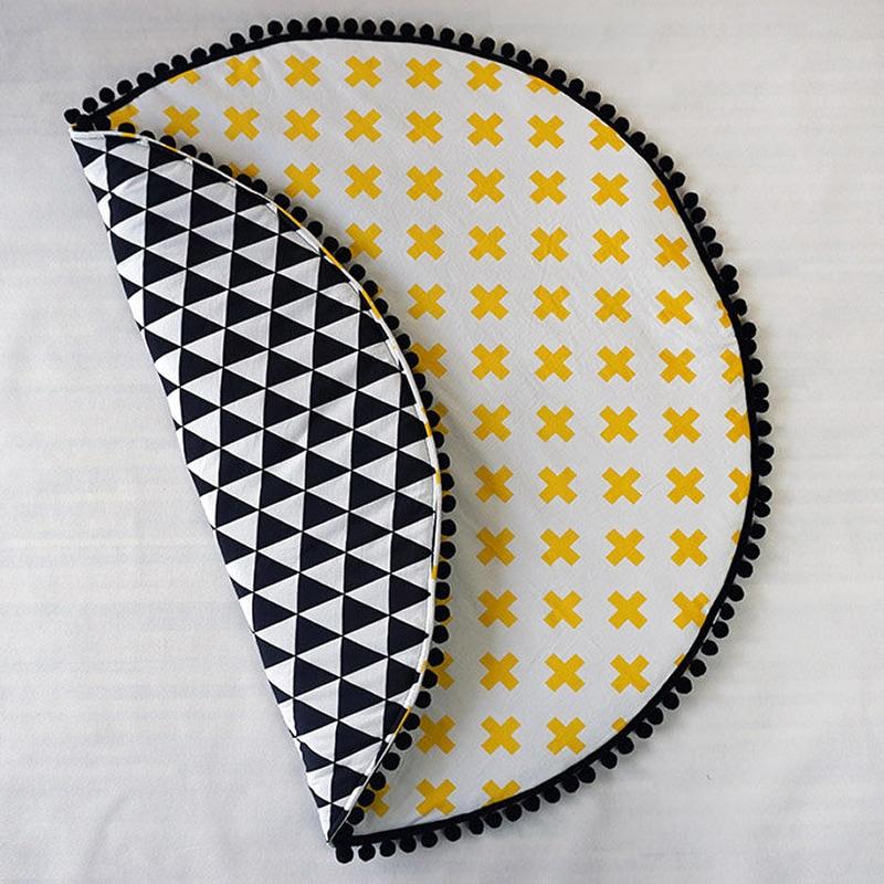 Игровой коврик для детей Желтые Крестики