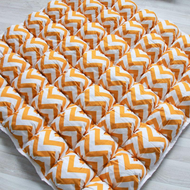 Ігрові килимки для дітей Пуф Зигзаг Жовтий