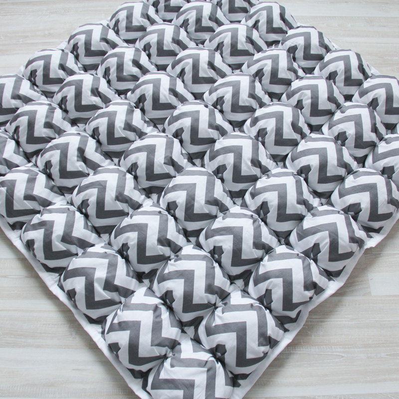 Ігрові килимки для дітей Пуф Зигзаг Перловий