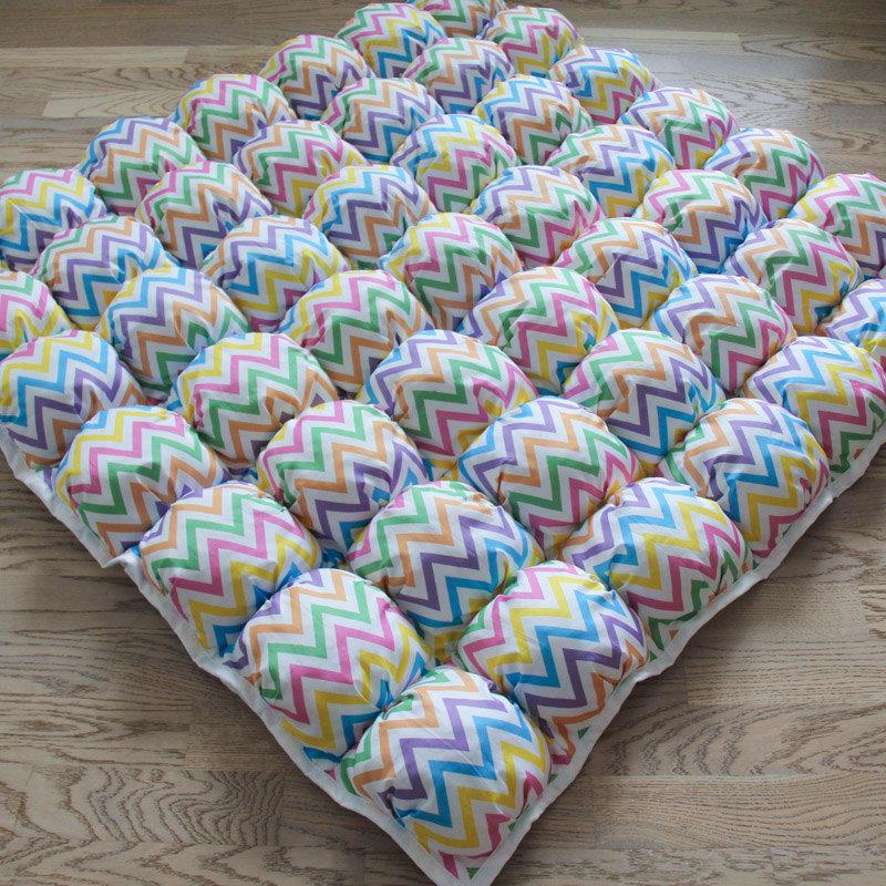Ігрові килимки для дітей Пуф Зигзаг Кольоровий