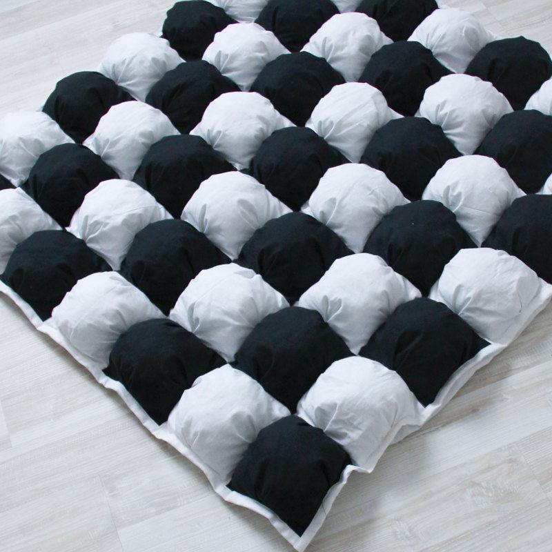 Коврики игровые для детей Пуф Черное и Белое