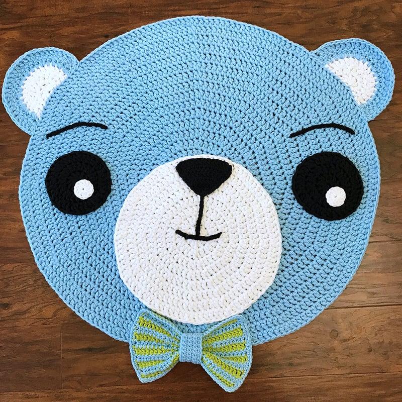 Коврик игровой для мальчика Blue Teddy Bear
