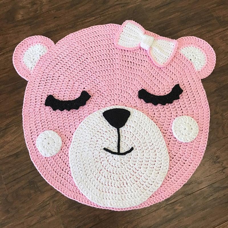 Ігровий килимок для дівчинки Pink Teddy Bear