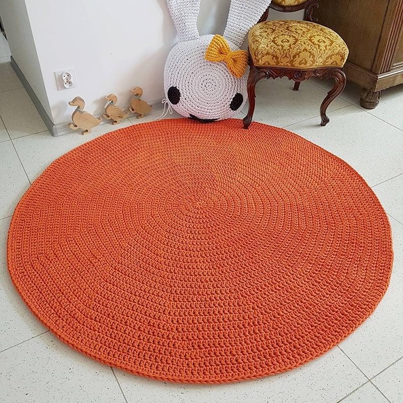 Килимок дитячий ручної роботи Orange Circle