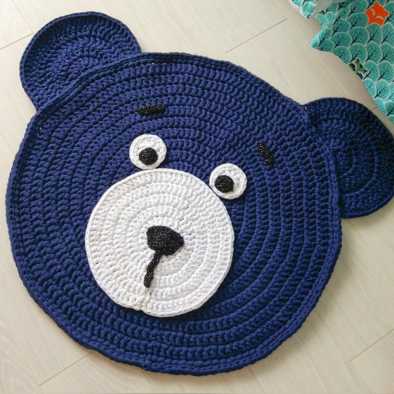 Коврик напольный детский Bear Teddy Blue