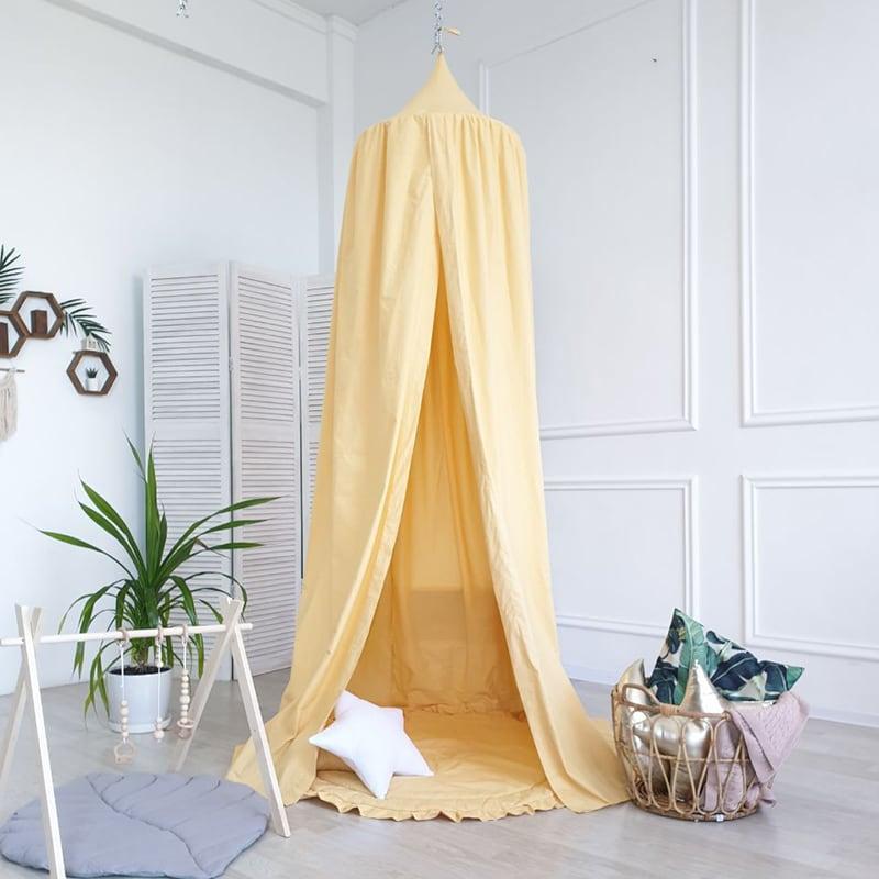 Палатка шатер Pavilion Vanilla yellow satin
