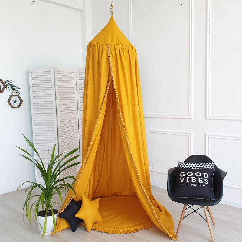 Дитячий намет будиночок Pavilion Orange yellow satin