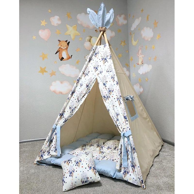 Вигвам палатка для детей Владыка Снов. Комплект 5 в 1
