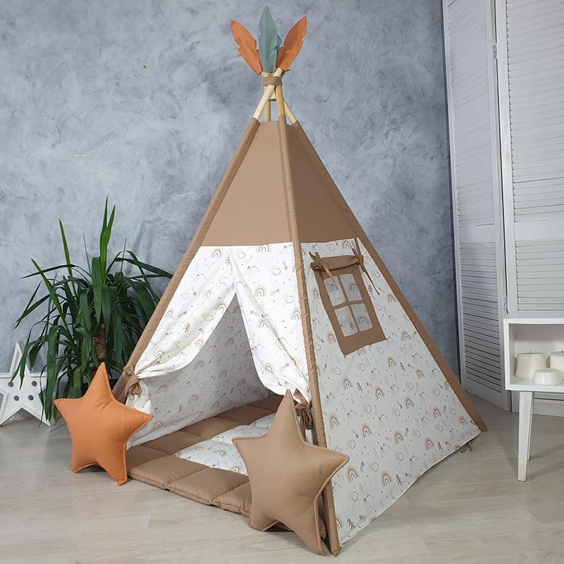 Вигвам палатка для детей Воин Прерий