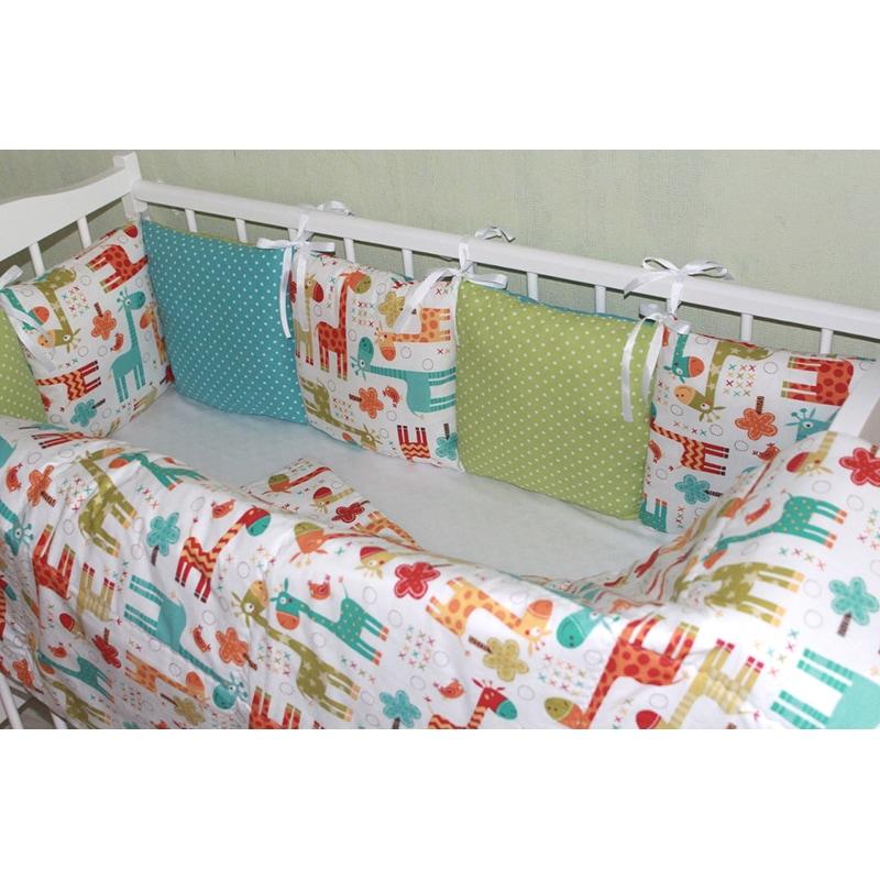 Бортики на детскую кроватку Африка