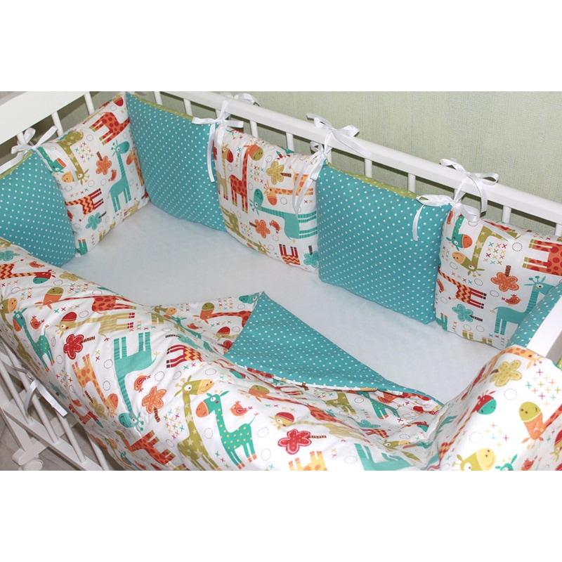 Бортики на дитяче ліжечко Африка