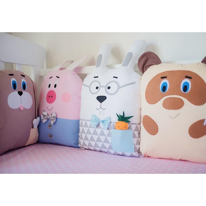 Бортики в ліжечко для новонароджених Вінні Пух і його друзі