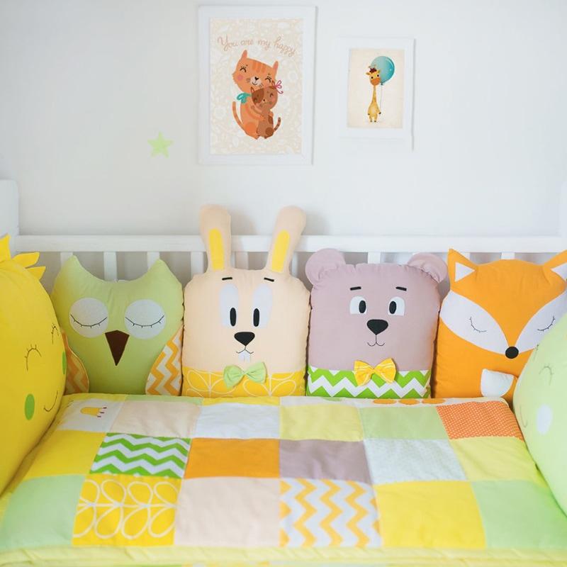 Захисні бортики для дитячого ліжечка Сонячний Зайчик