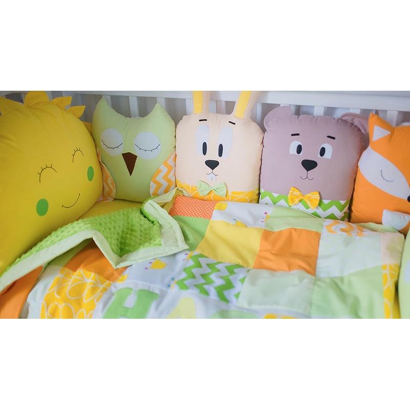 Защитные бортики для детской кроватки Солнечный Зайчик