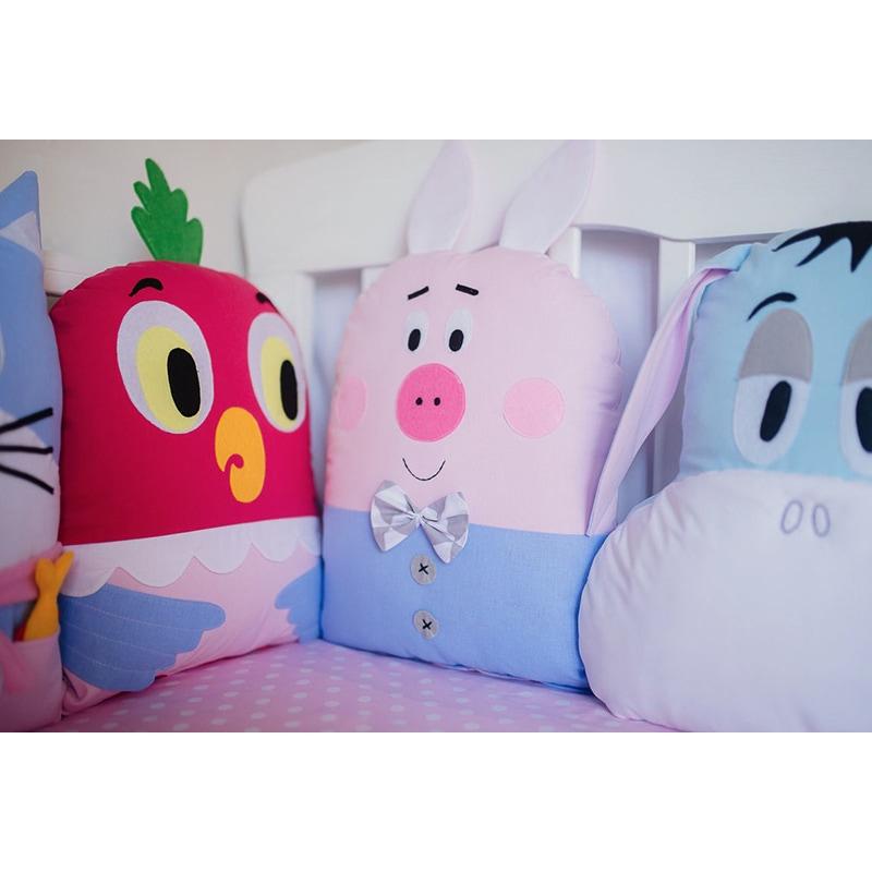 Бортики в кроватку для новорожденных Винни Пух и его друзья