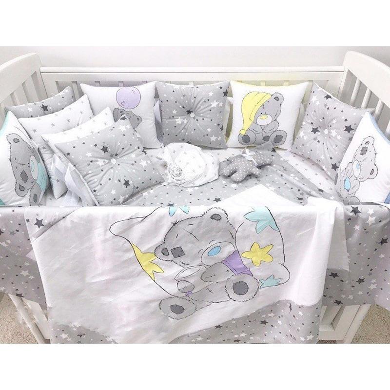 Защитные бортики в кроватку мальчику Сказка для Тедди