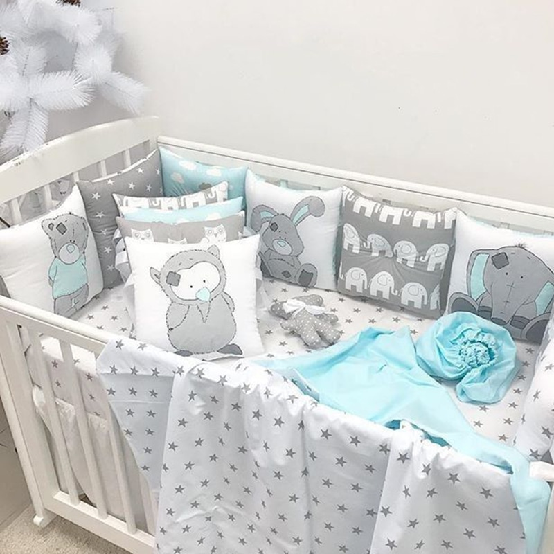 Защитные бортики в кроватку мальчику Тедди и его друзья
