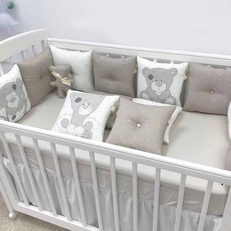 Бортики в ліжечко хлопчику Милий Тедді