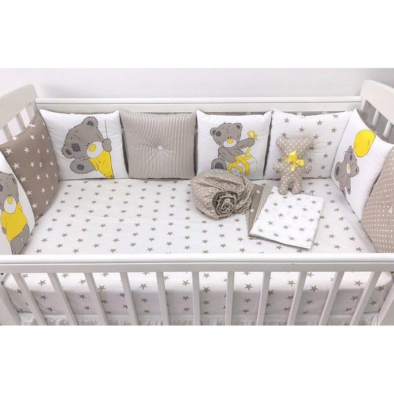 Бортики-подушки в кроватку новорожденному Подарок от Тедди