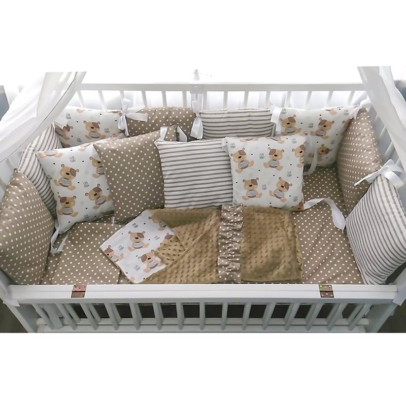 Захисні бортики на ліжечко новонародженого Плюшевий Ведмедик