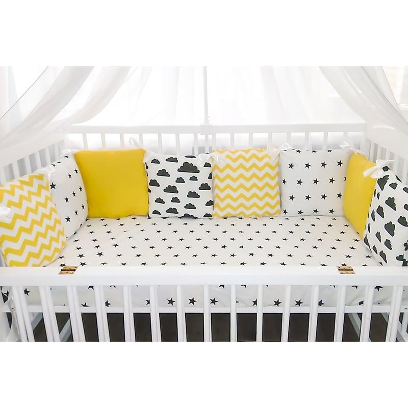 Защитные бортики для кроватки новорожденного Солнечное Небо